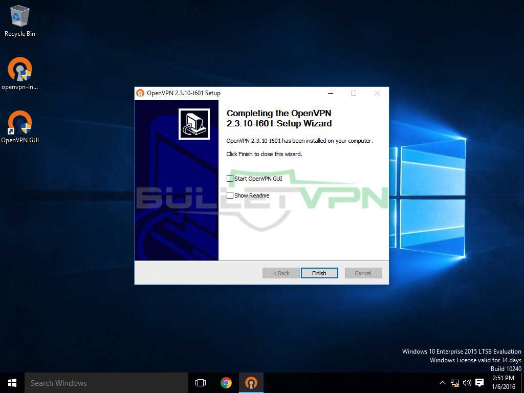 How to Setup BulletVPN OpenVPN Manually on Windows 10 – BulletVPN